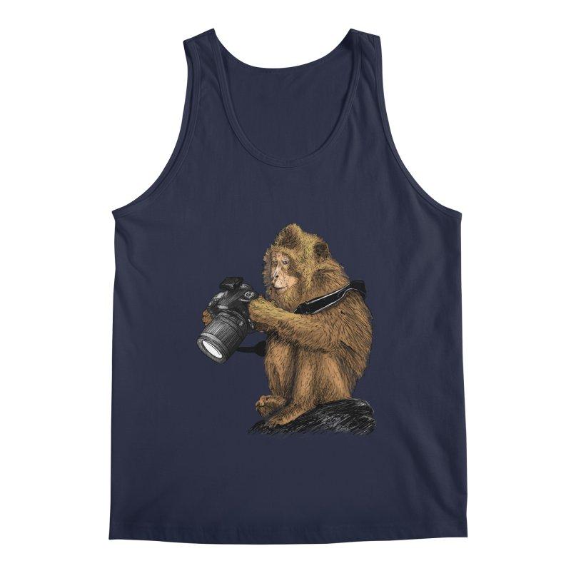 monkey photographer Men's Regular Tank by gupikus's Artist Shop