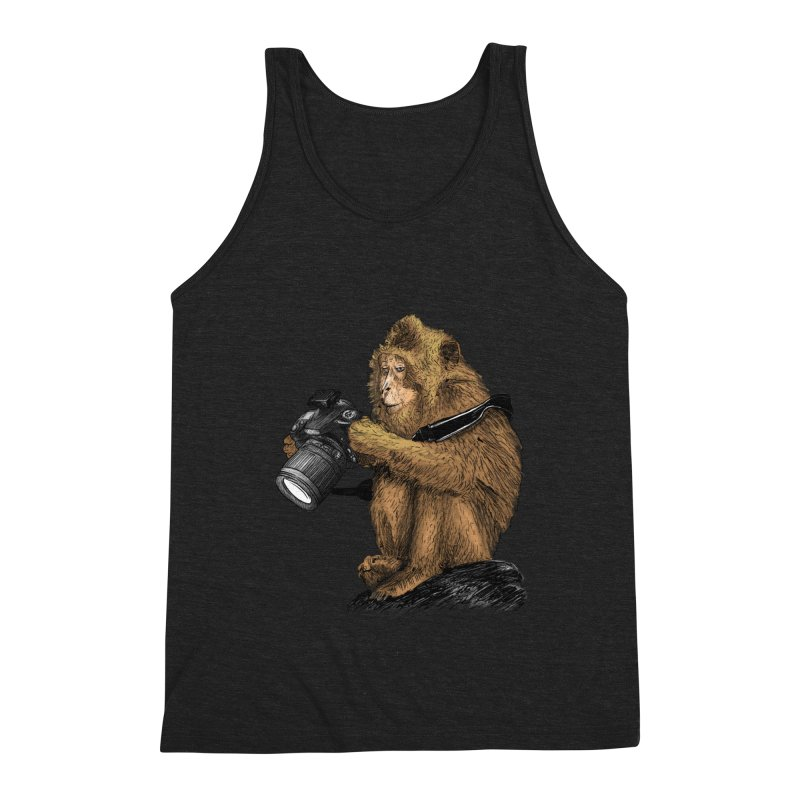 monkey photographer Men's Triblend Tank by gupikus's Artist Shop