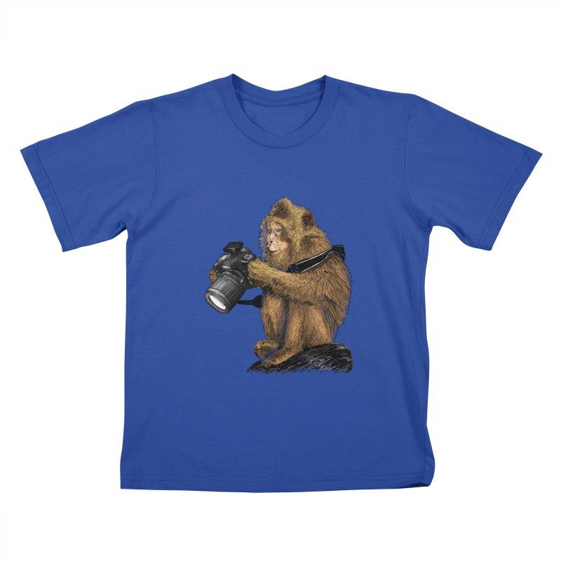 monkey photographer Kids  by gupikus's Artist Shop
