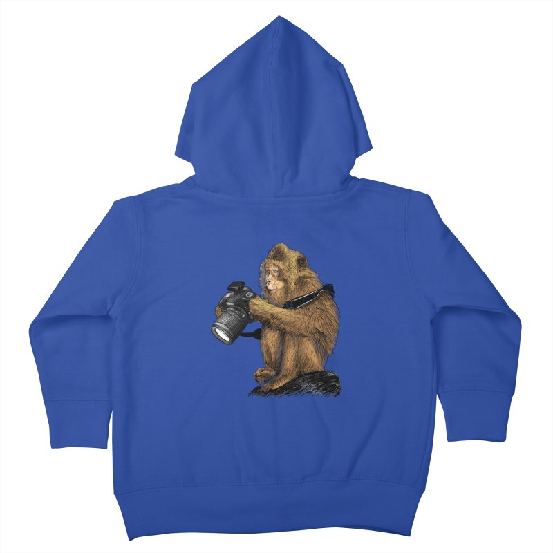 monkey photographer Kids Toddler Zip-Up Hoody by gupikus's Artist Shop