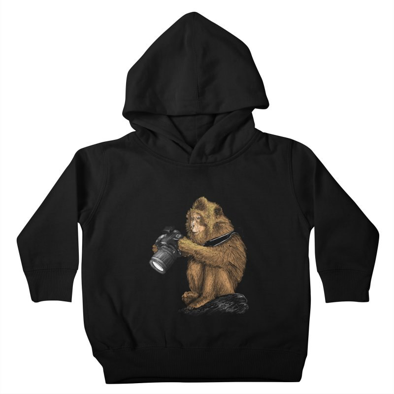 monkey photographer Kids Toddler Pullover Hoody by gupikus's Artist Shop