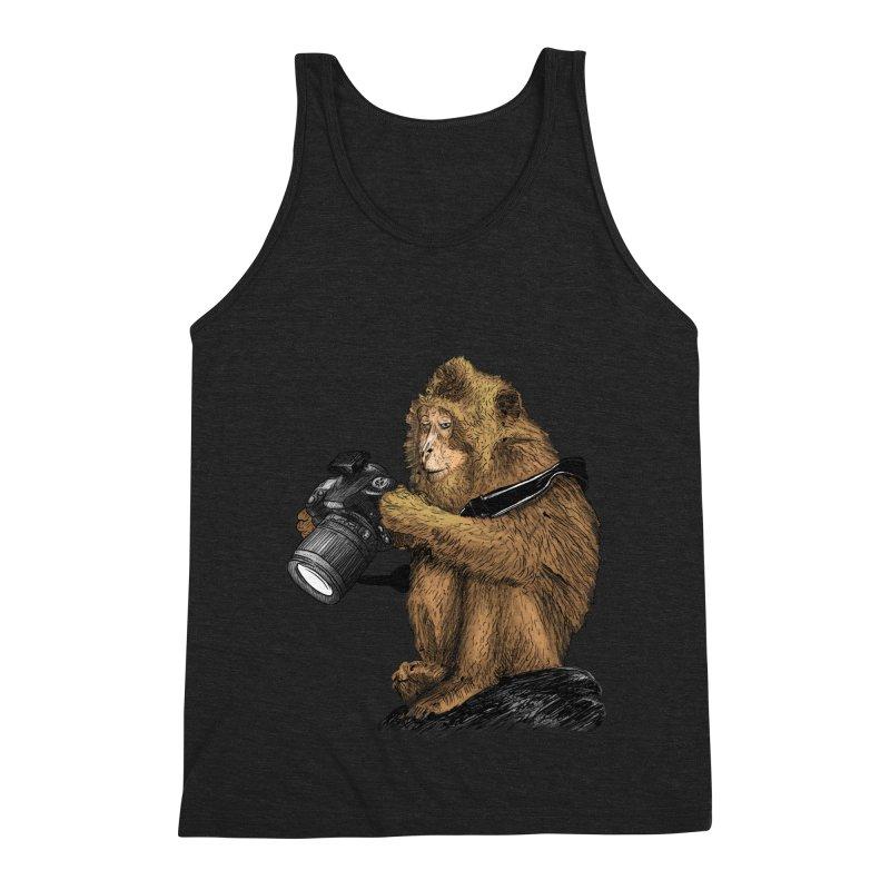 monkey photographer Men's Triblend Tank by gupikus's Artist Shop