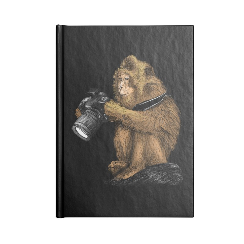 monkey photographer Accessories Notebook by gupikus's Artist Shop