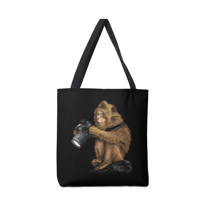 monkey photographer Accessories Bag by gupikus's Artist Shop