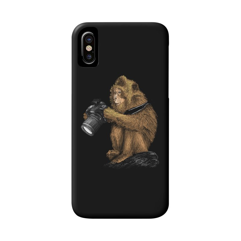 monkey photographer Accessories Phone Case by gupikus's Artist Shop