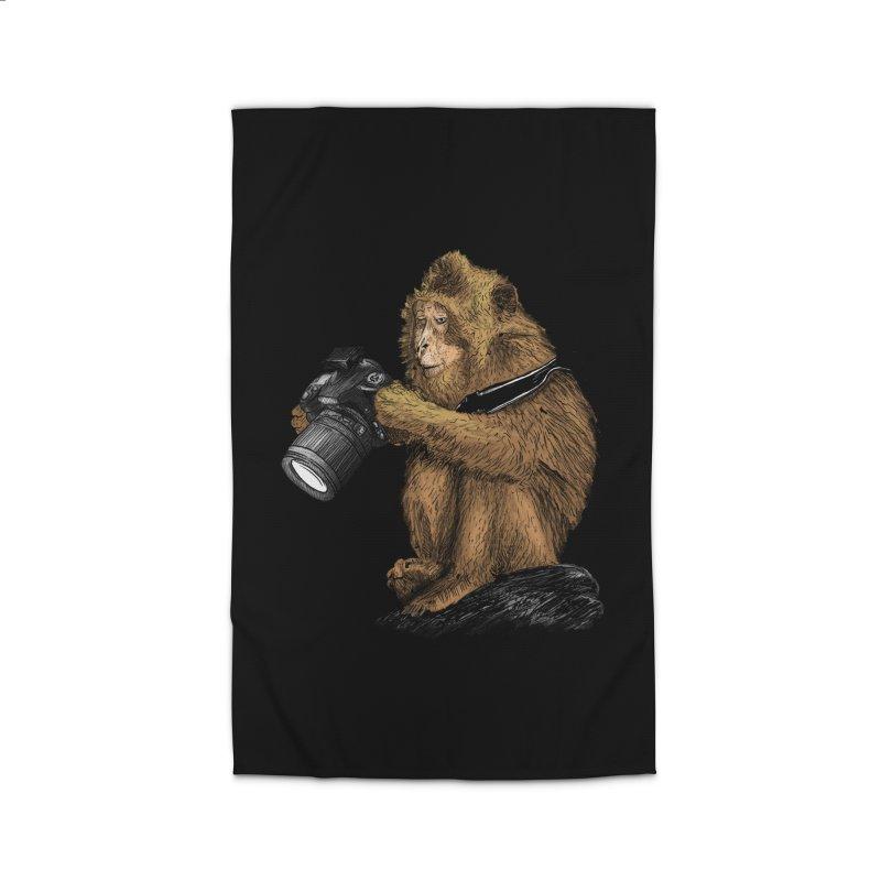 monkey photographer Home Rug by gupikus's Artist Shop