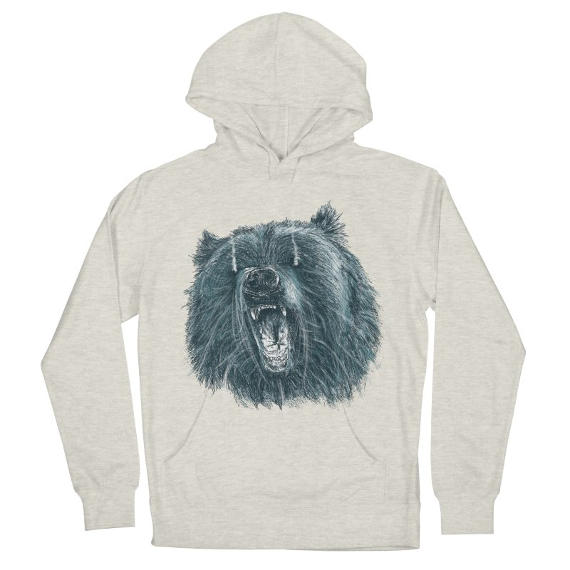 beast bear Men's French Terry Pullover Hoody by gupikus's Artist Shop