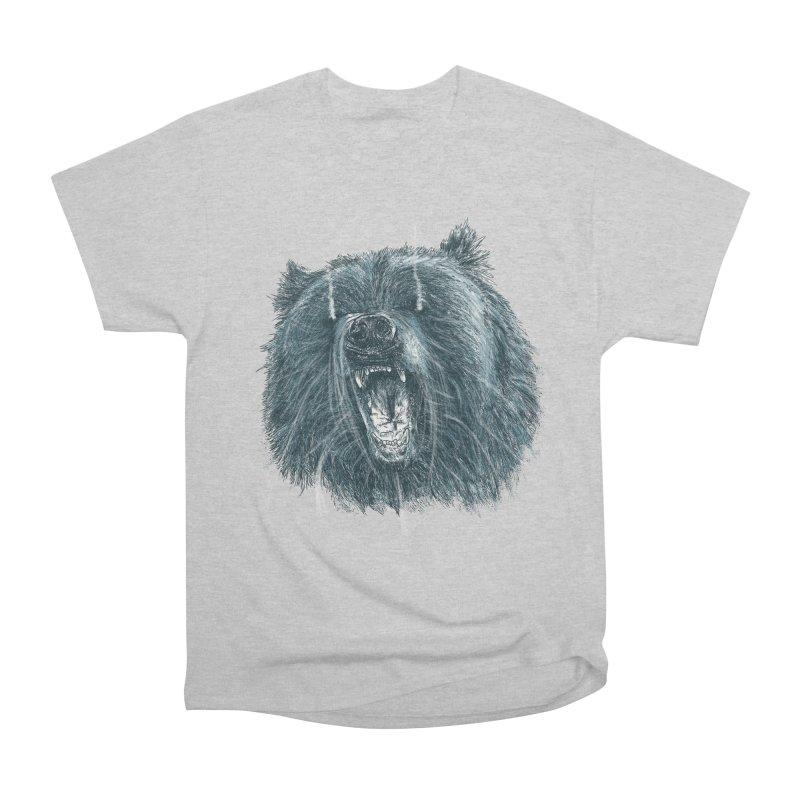 beast bear Women's Heavyweight Unisex T-Shirt by gupikus's Artist Shop