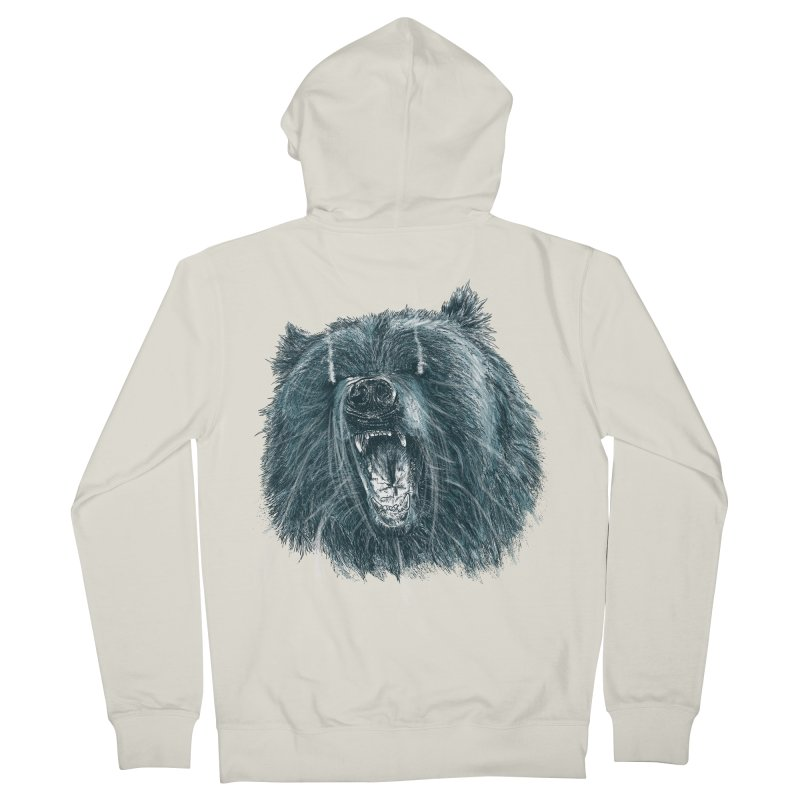 beast bear Women's French Terry Zip-Up Hoody by gupikus's Artist Shop