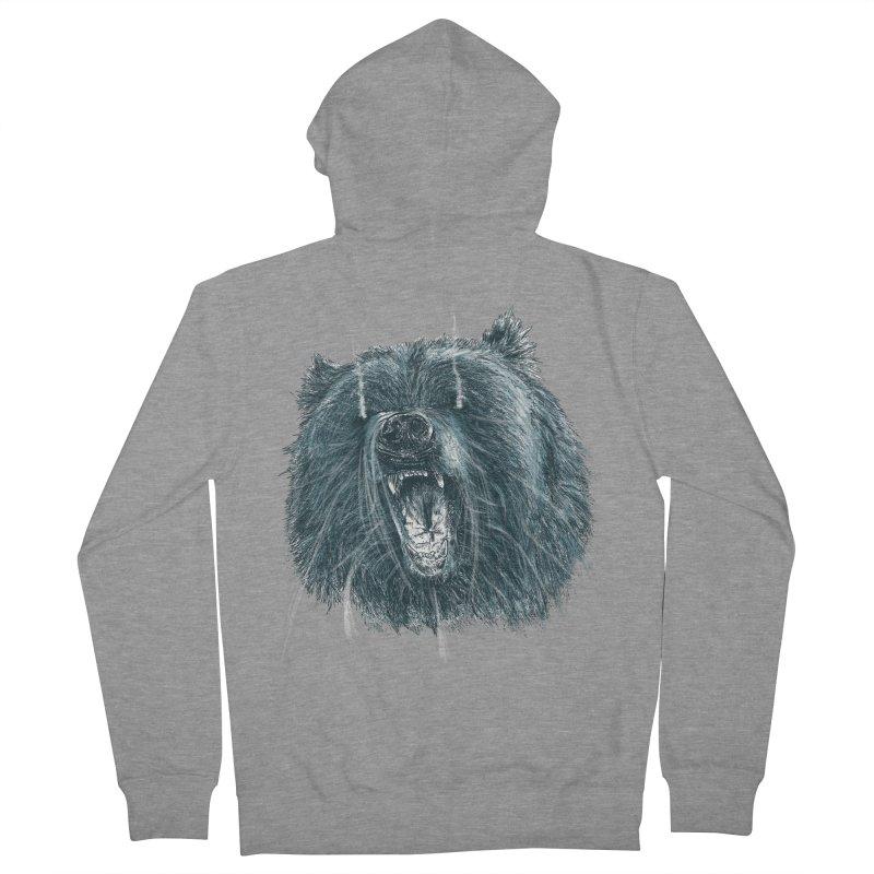 beast bear Men's French Terry Zip-Up Hoody by gupikus's Artist Shop