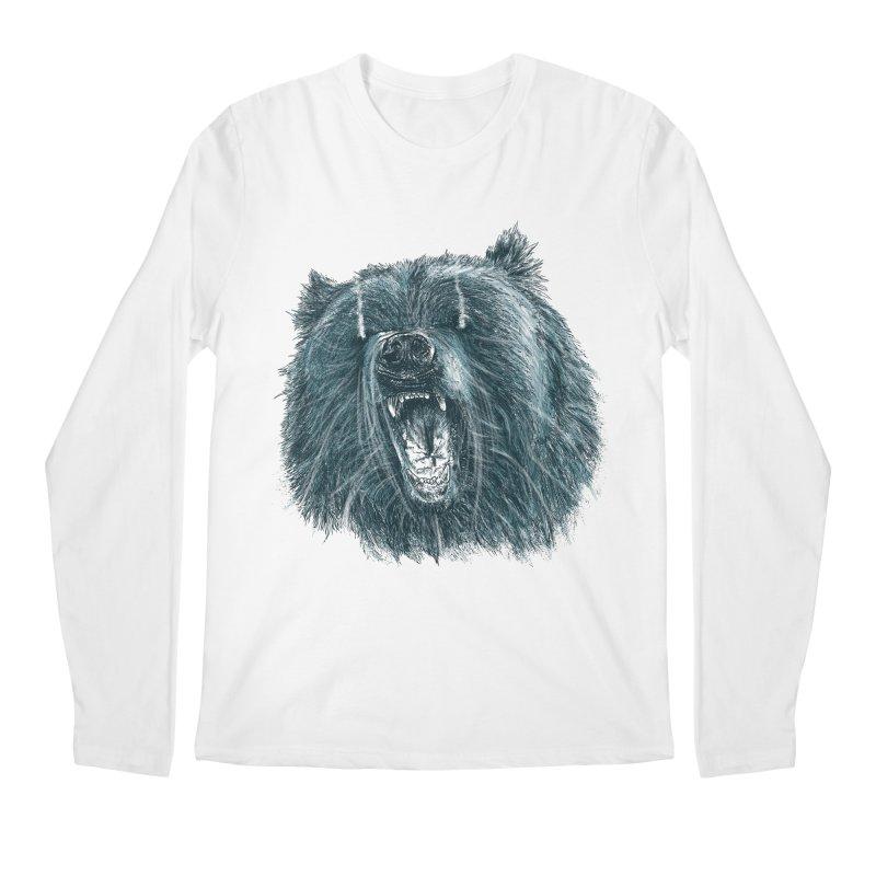beast bear Men's Regular Longsleeve T-Shirt by gupikus's Artist Shop