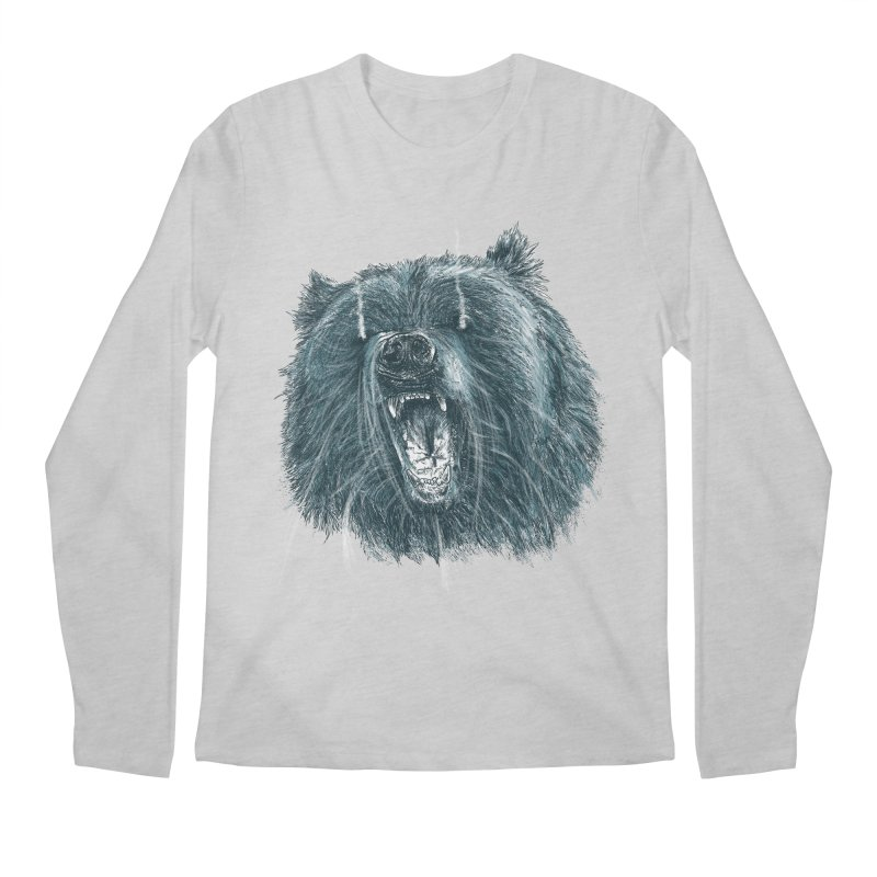 beast bear Men's Regular Longsleeve T-Shirt by gupikus's Artist Shop
