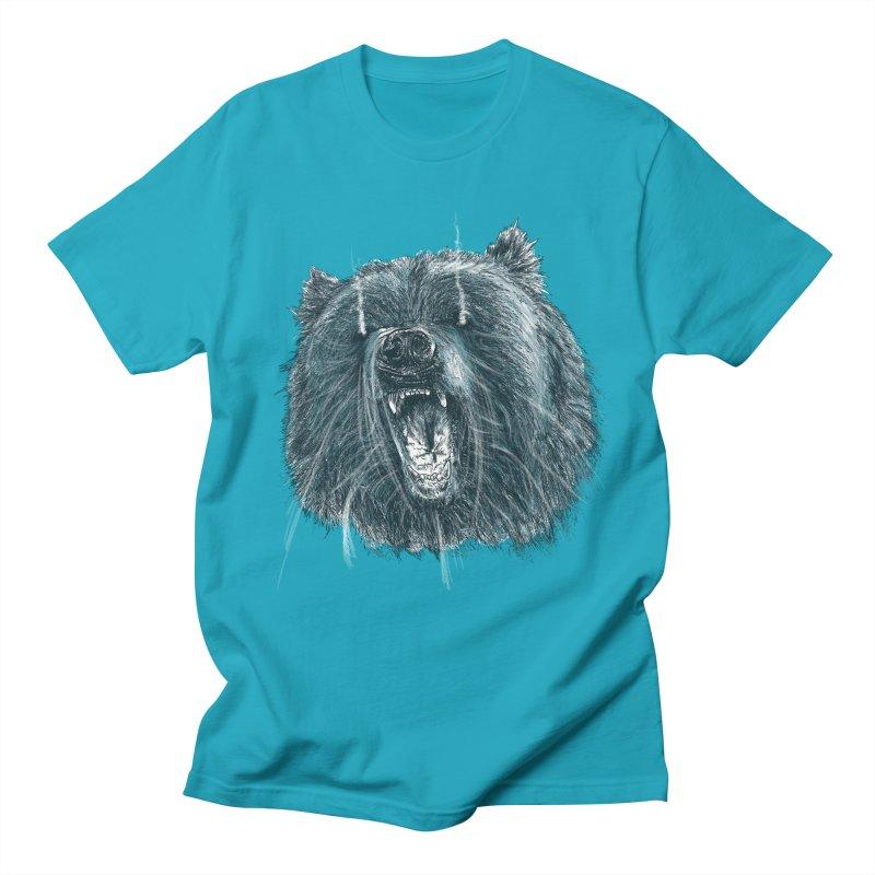beast bear Men's Regular T-Shirt by gupikus's Artist Shop