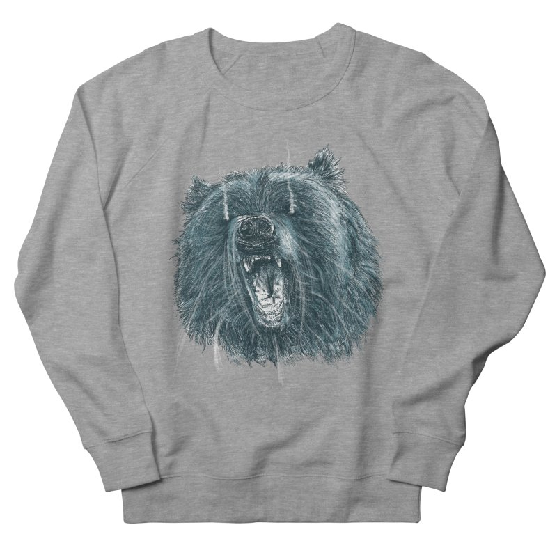 beast bear Men's French Terry Sweatshirt by gupikus's Artist Shop