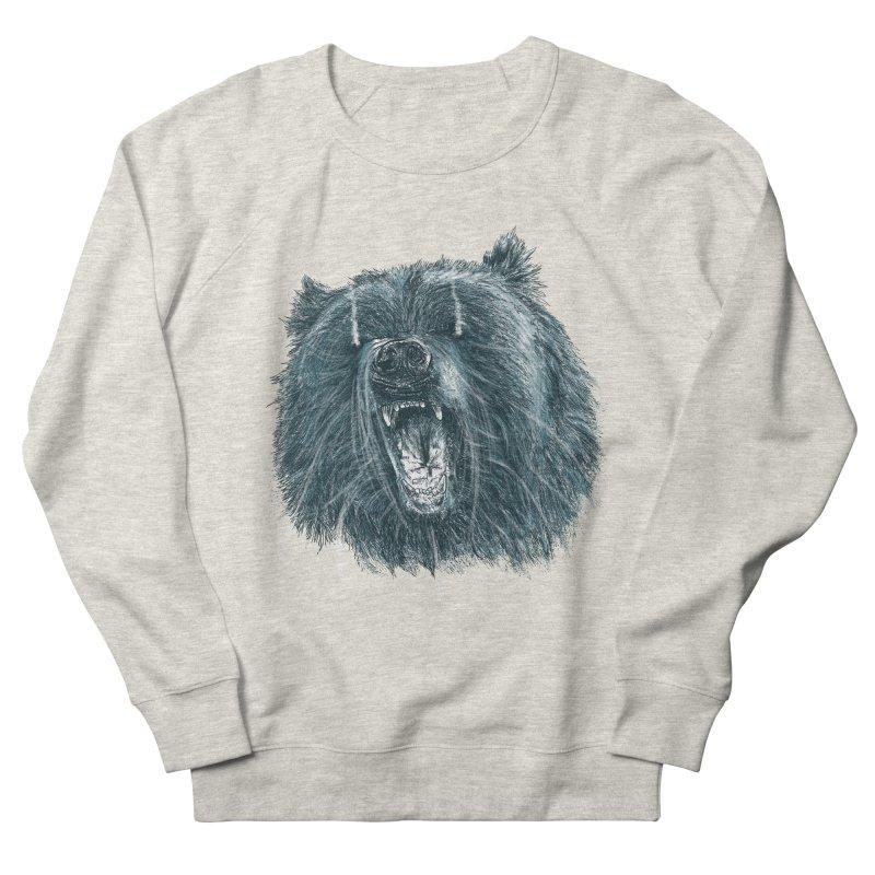 beast bear Men's French Terry Sweatshirt by gupikus's Artist Shop