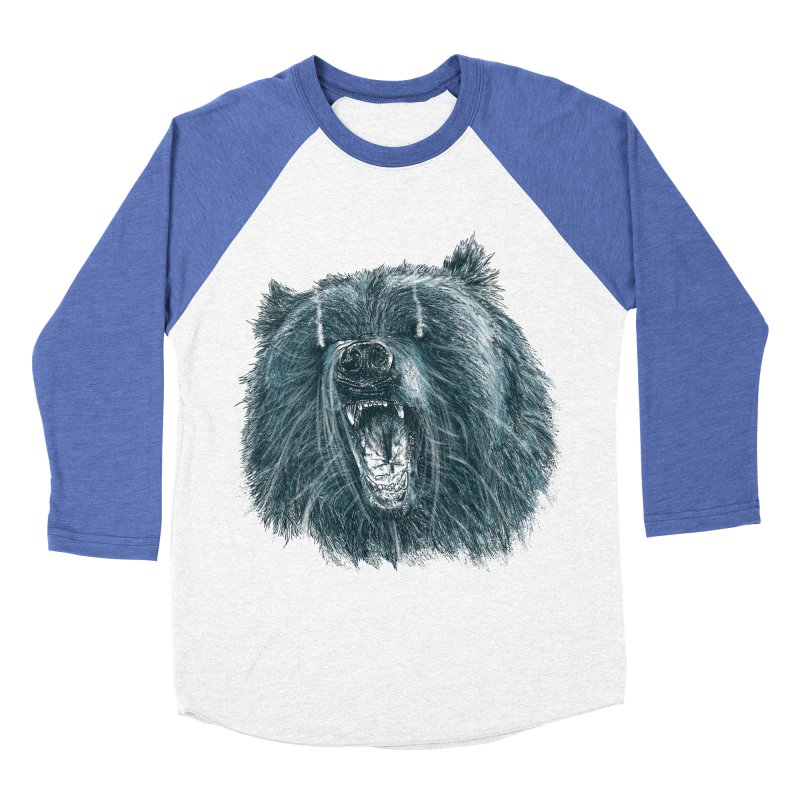 beast bear Women's Baseball Triblend Longsleeve T-Shirt by gupikus's Artist Shop