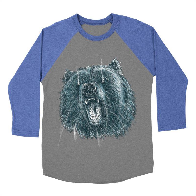 beast bear Women's Baseball Triblend Longsleeve T-Shirt by gupikus's Artist Shop