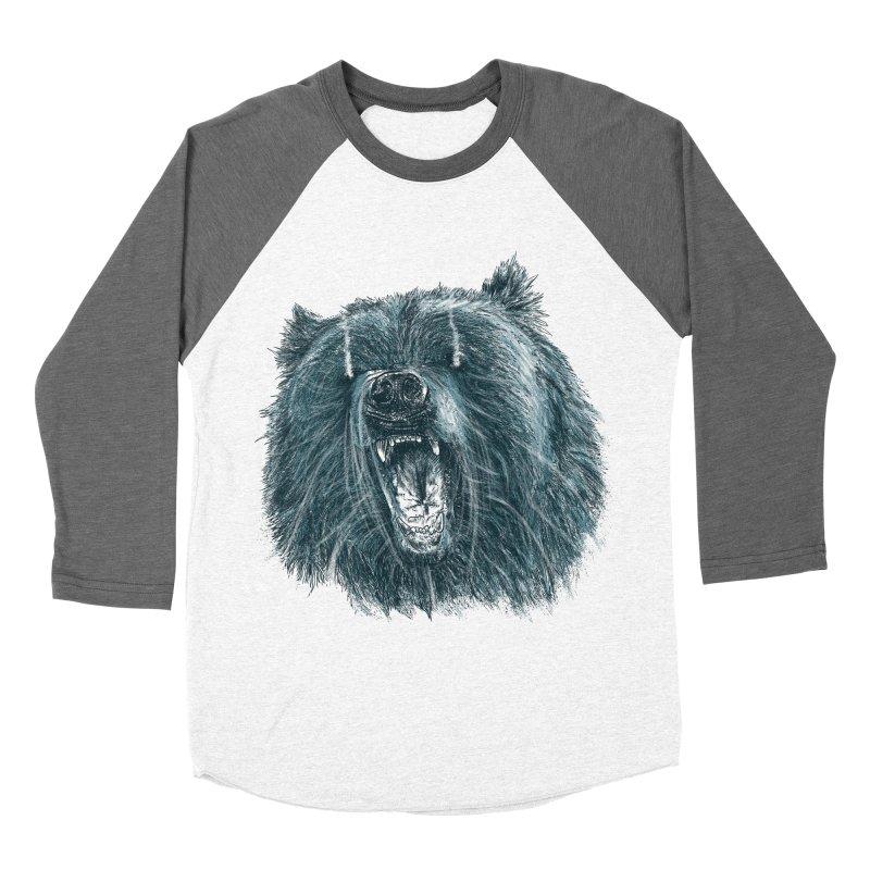 beast bear Men's Baseball Triblend Longsleeve T-Shirt by gupikus's Artist Shop