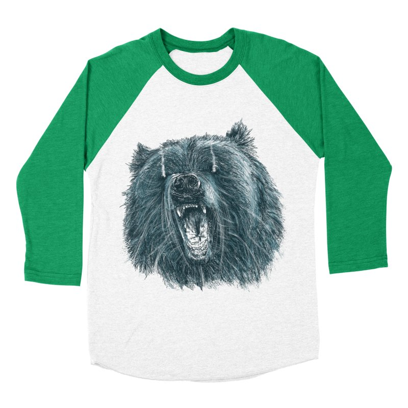 beast bear Men's Baseball Triblend Longsleeve T-Shirt by gupikus's Artist Shop