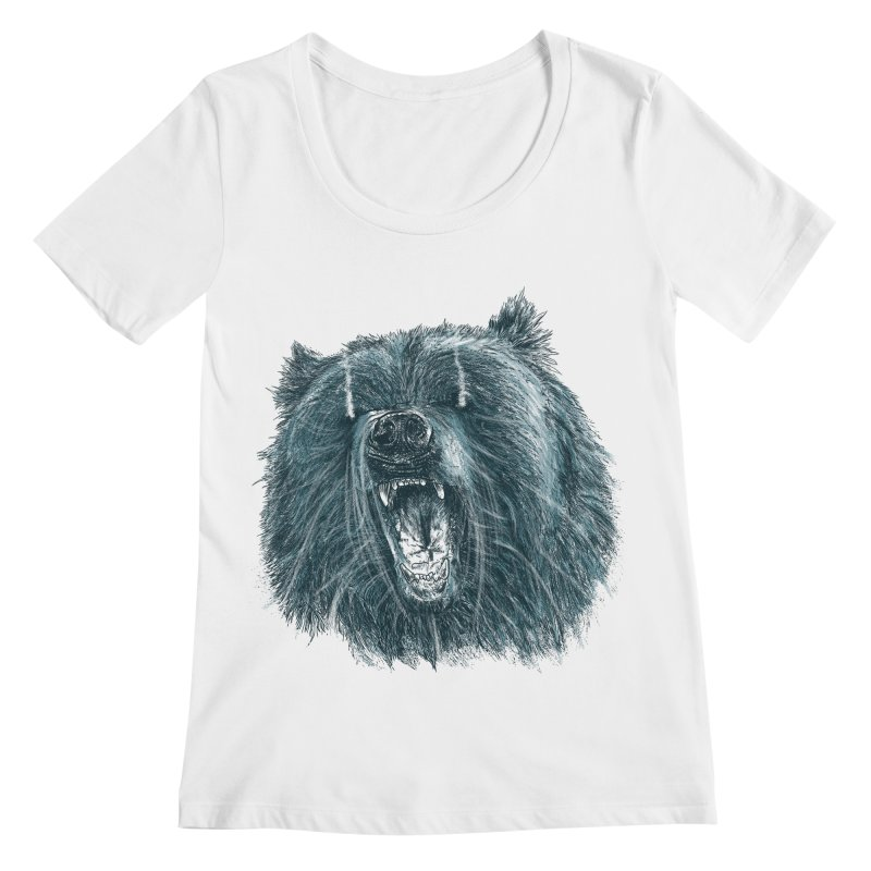 beast bear Women's Regular Scoop Neck by gupikus's Artist Shop