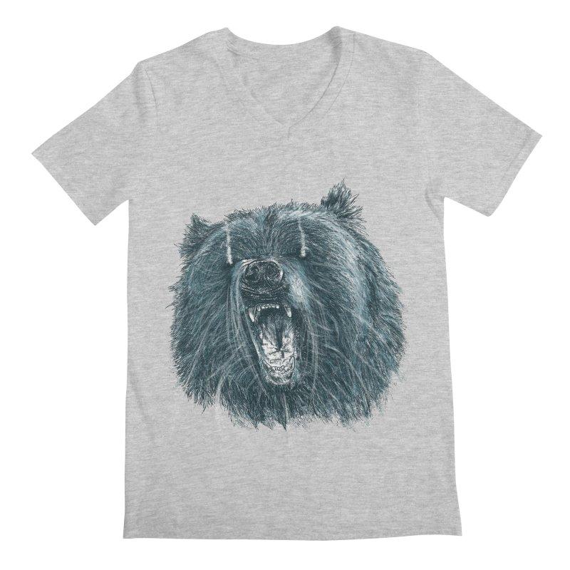 beast bear Men's V-Neck by gupikus's Artist Shop