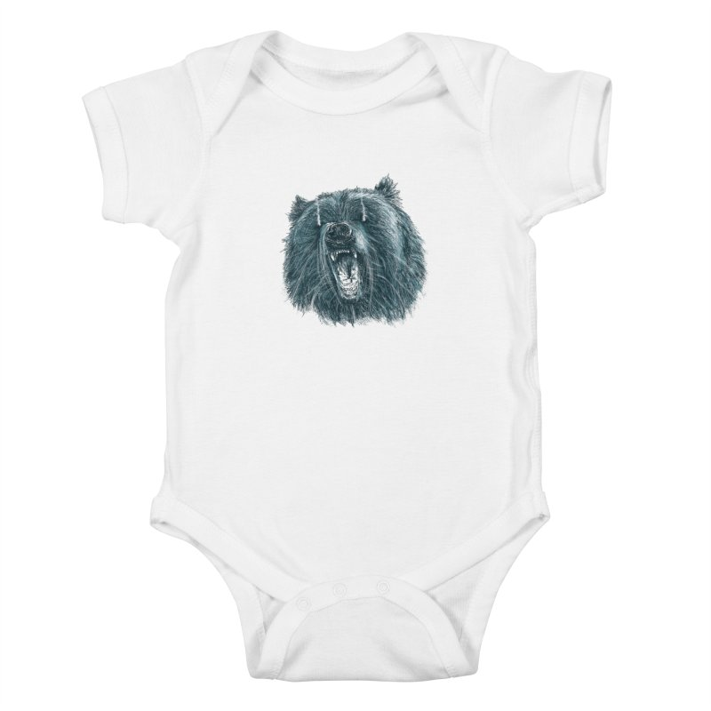 beast bear Kids Baby Bodysuit by gupikus's Artist Shop