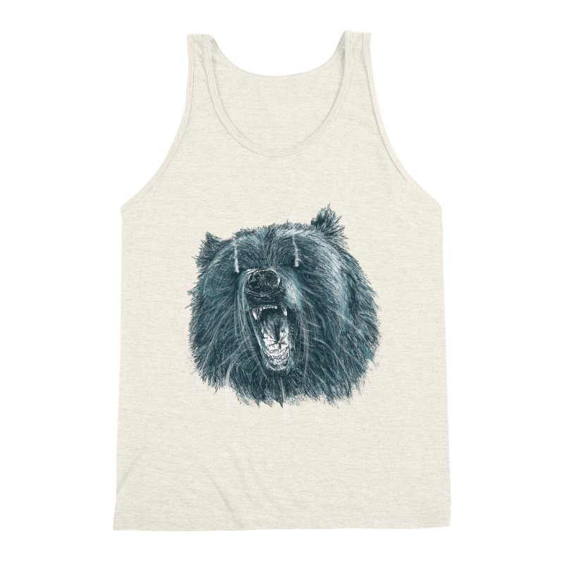 beast bear Men's Triblend Tank by gupikus's Artist Shop
