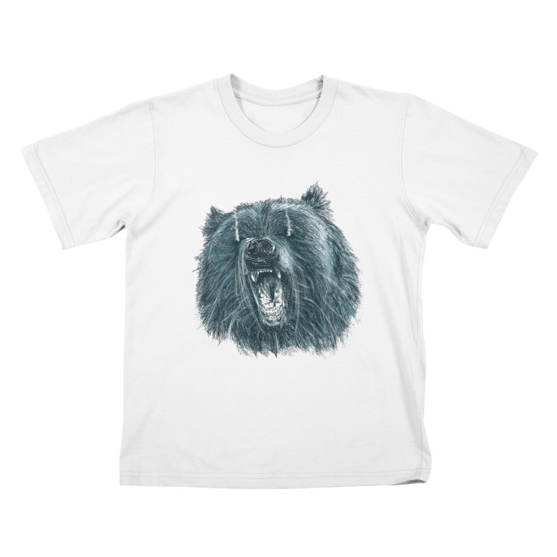 beast bear Kids T-Shirt by gupikus's Artist Shop