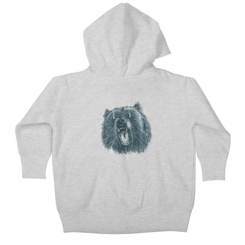beast bear Kids Baby Zip-Up Hoody by gupikus's Artist Shop