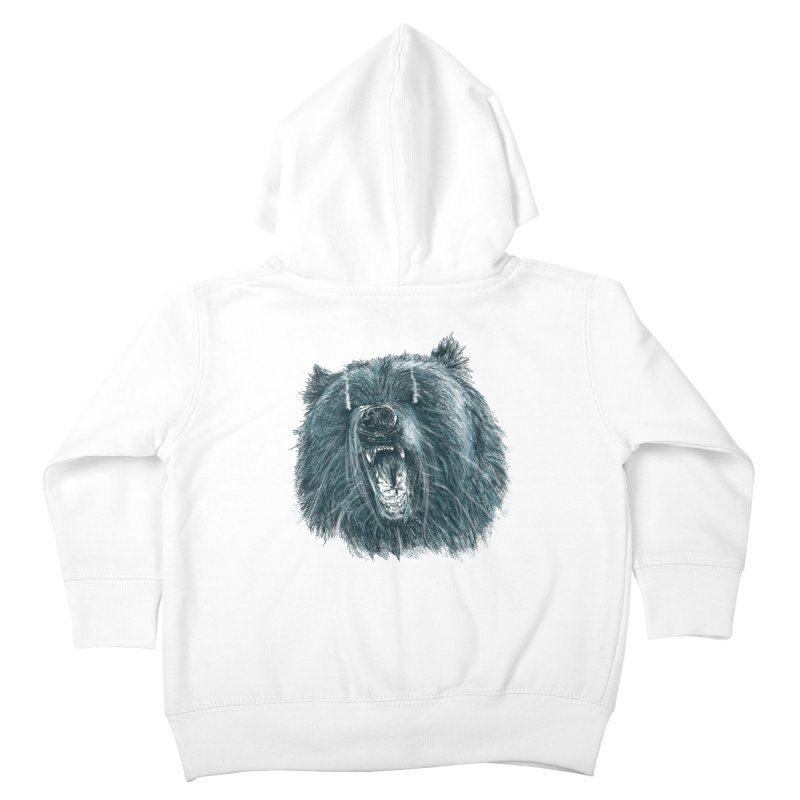 beast bear Kids Toddler Zip-Up Hoody by gupikus's Artist Shop