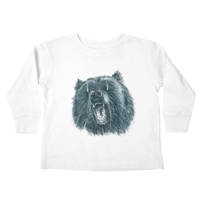 beast bear Kids Toddler Longsleeve T-Shirt by gupikus's Artist Shop