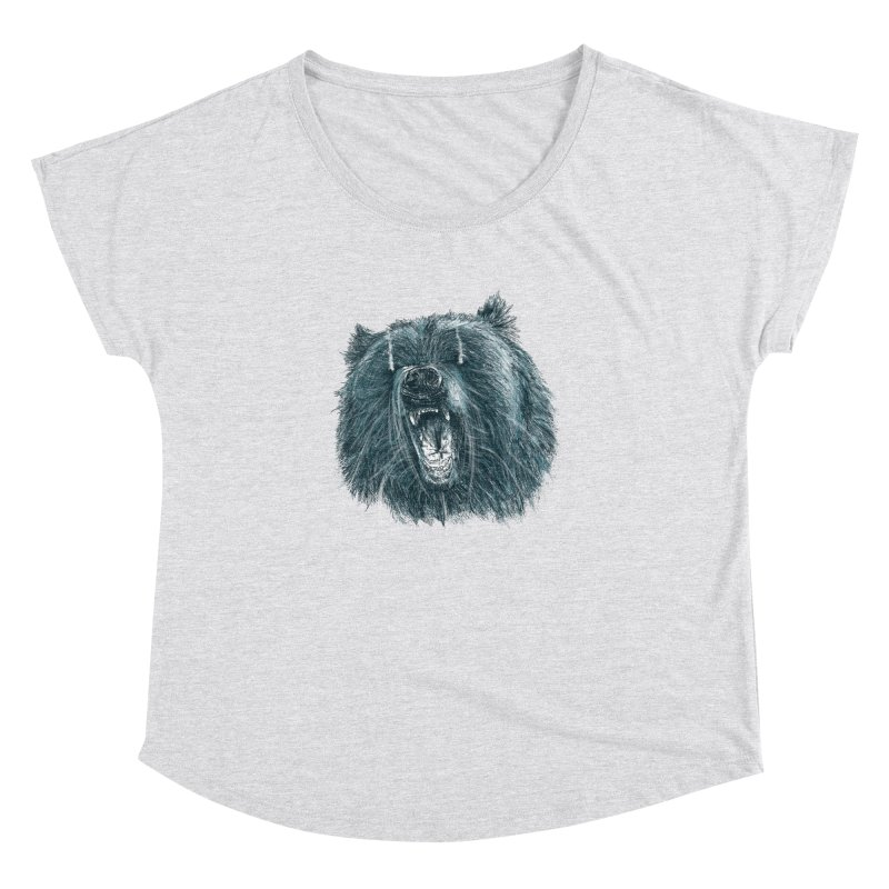 beast bear Women's Dolman Scoop Neck by gupikus's Artist Shop
