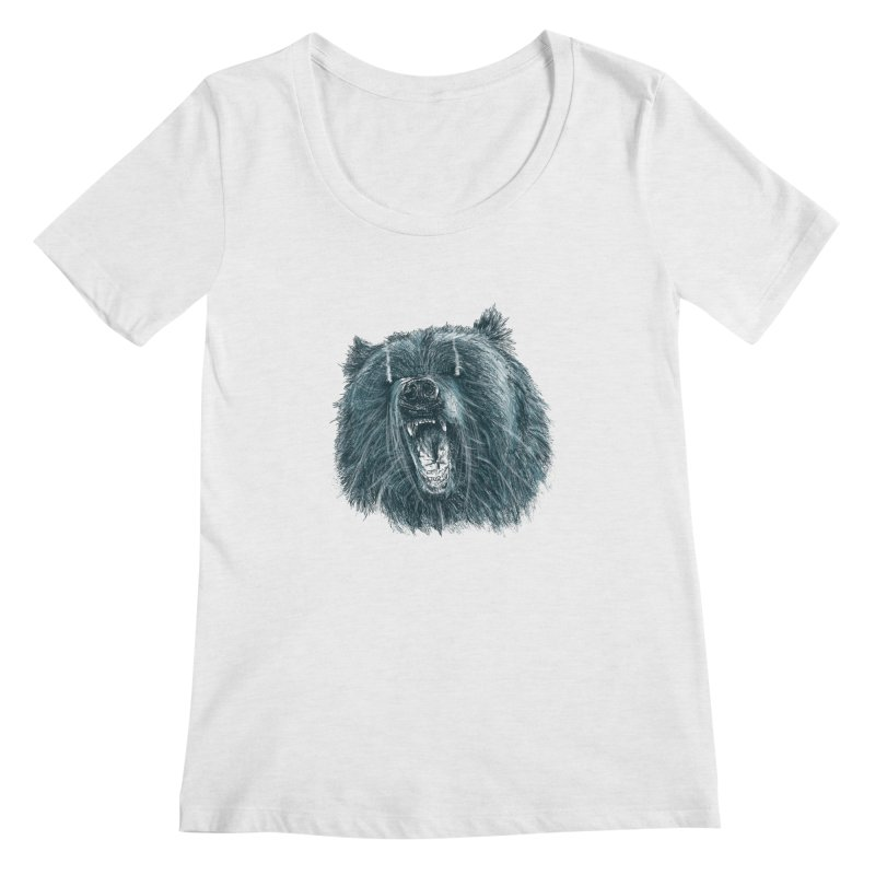 beast bear Women's Regular Scoop Neck by gupikus's Artist Shop