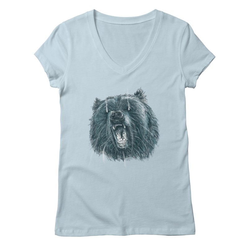 beast bear Women's Regular V-Neck by gupikus's Artist Shop