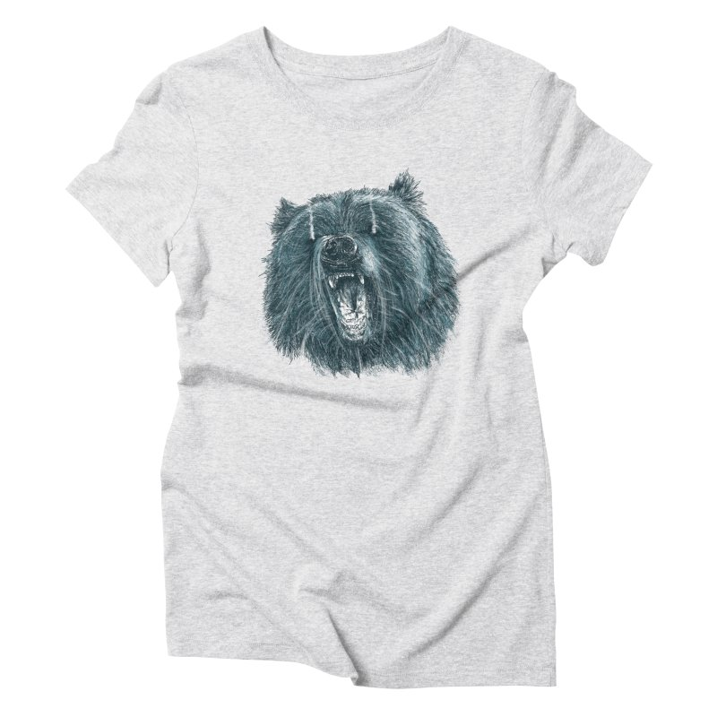 beast bear Women's Triblend T-Shirt by gupikus's Artist Shop