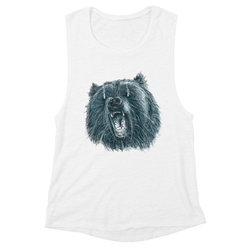 beast bear Women's Muscle Tank by gupikus's Artist Shop