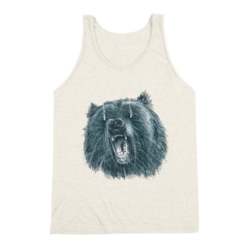 beast bear Men's Triblend Tank by gupikus's Artist Shop