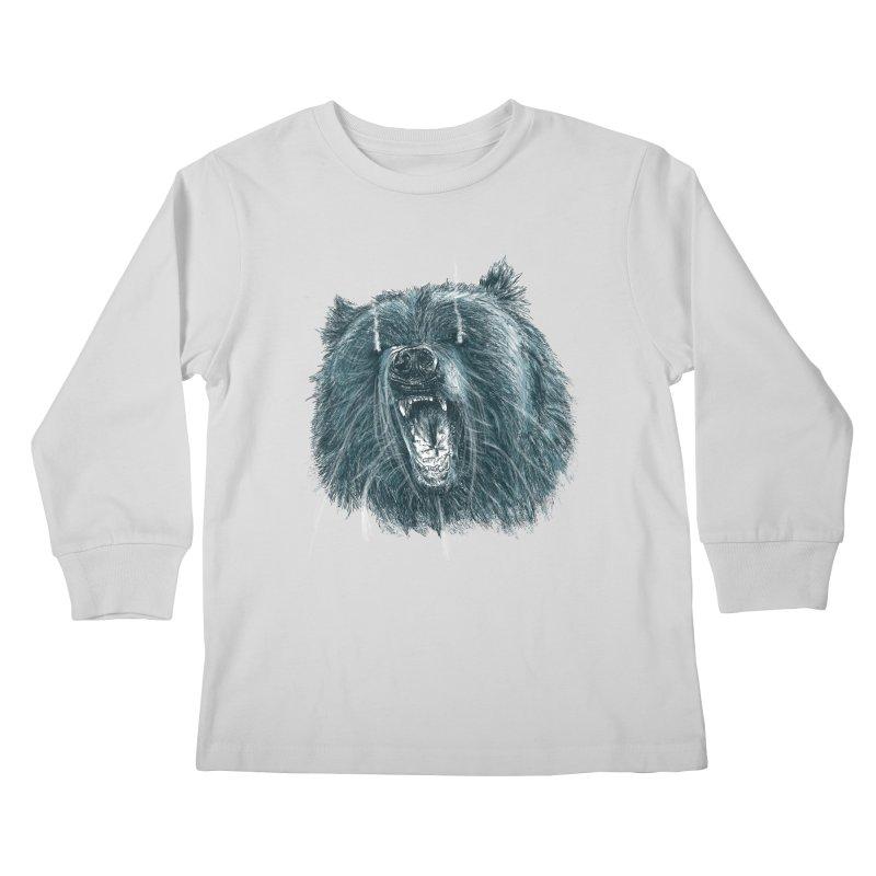 beast bear Kids Longsleeve T-Shirt by gupikus's Artist Shop