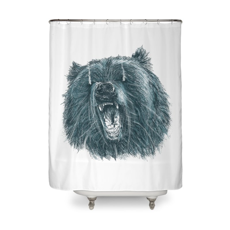 beast bear Home Shower Curtain by gupikus's Artist Shop
