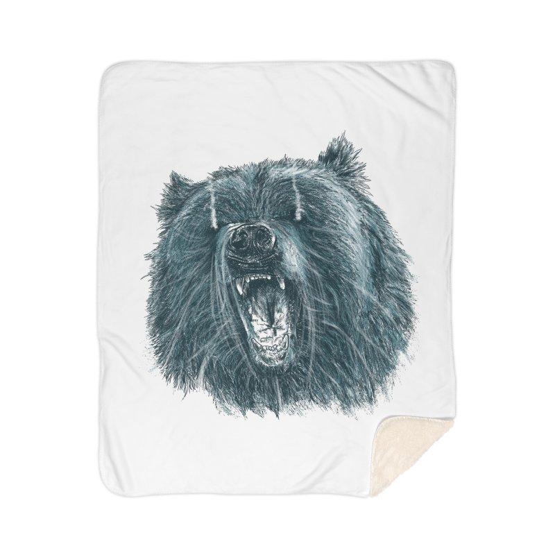 beast bear Home Sherpa Blanket Blanket by gupikus's Artist Shop