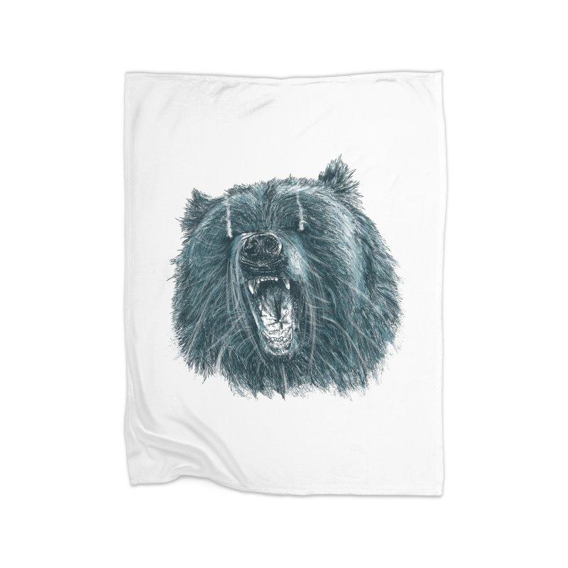 beast bear Home Blanket by gupikus's Artist Shop