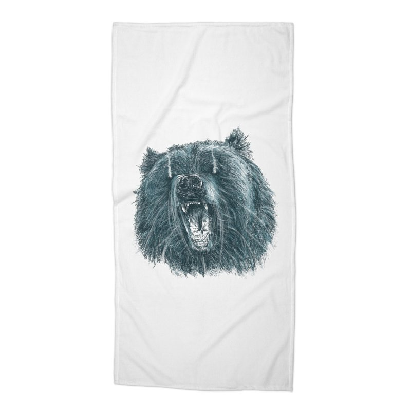 beast bear Accessories Beach Towel by gupikus's Artist Shop