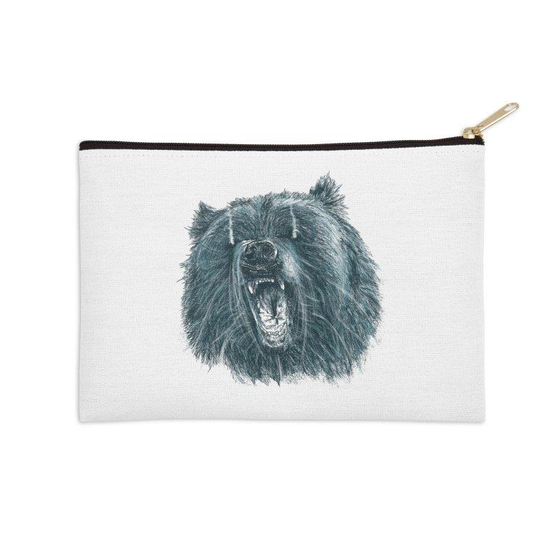 beast bear Accessories Zip Pouch by gupikus's Artist Shop