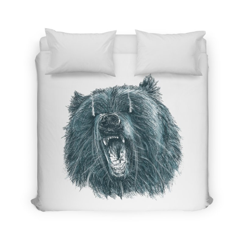 beast bear Home Duvet by gupikus's Artist Shop