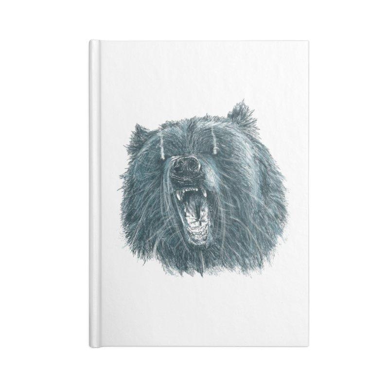 beast bear Accessories Lined Journal Notebook by gupikus's Artist Shop