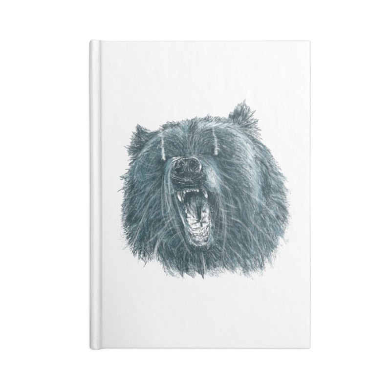 beast bear Accessories Blank Journal Notebook by gupikus's Artist Shop