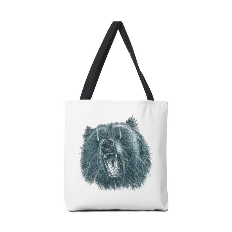 beast bear Accessories Bag by gupikus's Artist Shop
