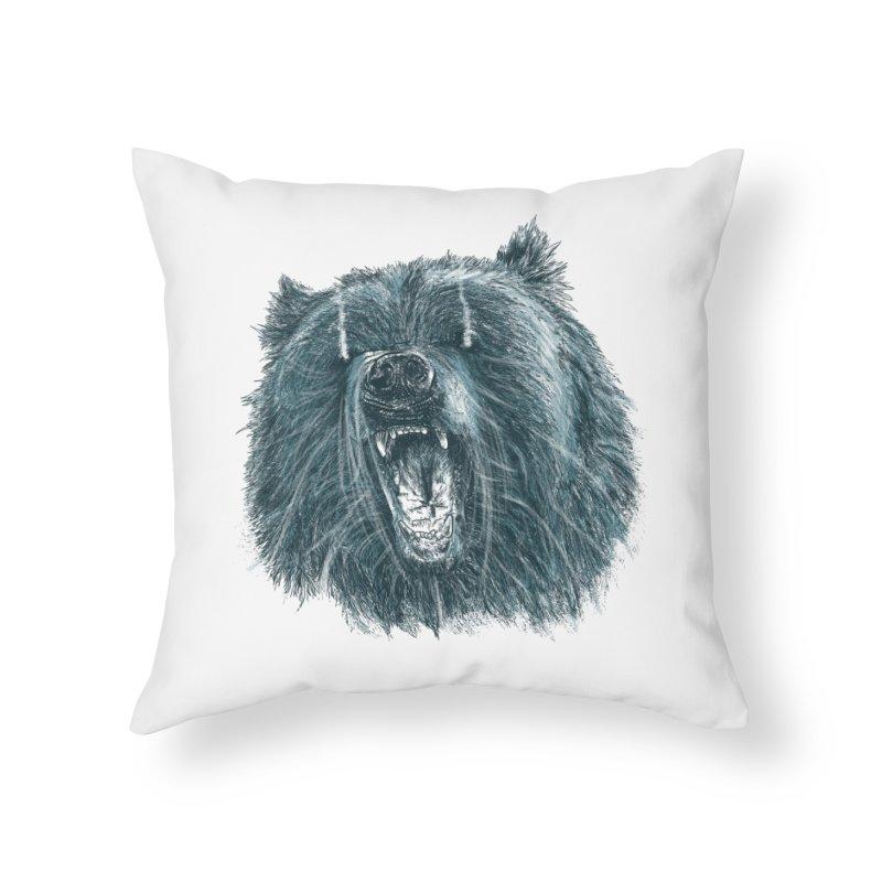 beast bear Home Throw Pillow by gupikus's Artist Shop