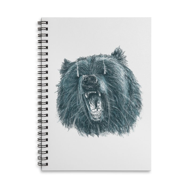 beast bear Accessories Lined Spiral Notebook by gupikus's Artist Shop