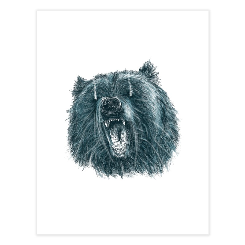 beast bear Home Fine Art Print by gupikus's Artist Shop